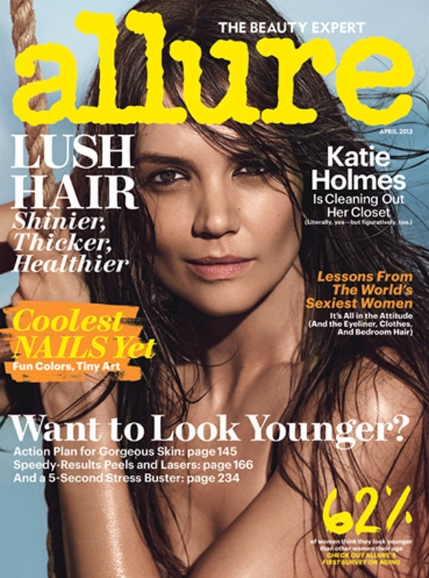Sexy single Katie Holmes' cover girl comeback