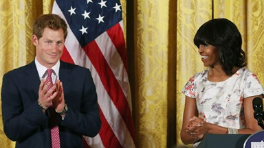 Prince Harry joins Michelle Obama for Mothers' Day