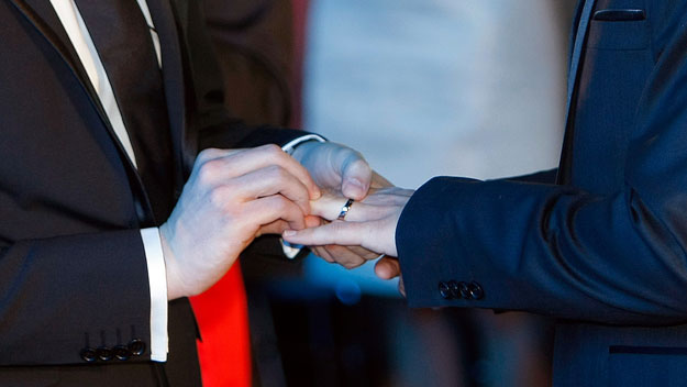 France celebrates first gay marriage