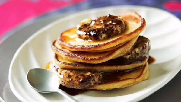 Pancakes with chocolate butter