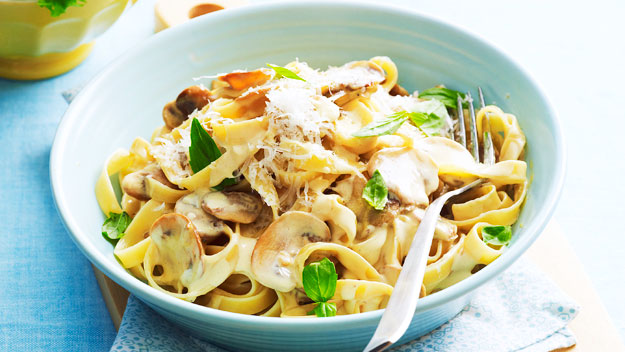 fettuccine with creamy fettuccine with creamy mushroom herb and