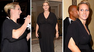 Zara Phillips shows off blossoming bump