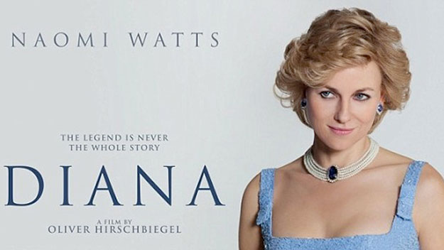 A poster for Naomi Watts' Diana biopic.