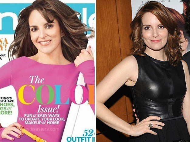 Tina Fey's neck looks odd in this InStyle shot.