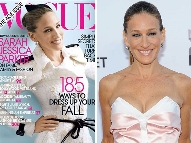 Wrinkle-free at 46? Sarah Jessica Parker looks very youthful on the cover of Vogue.
