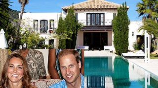 Inside William and Kate's Ibiza party pad