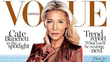 Golden girl Cate Blanchett shimmers on Vogue cover