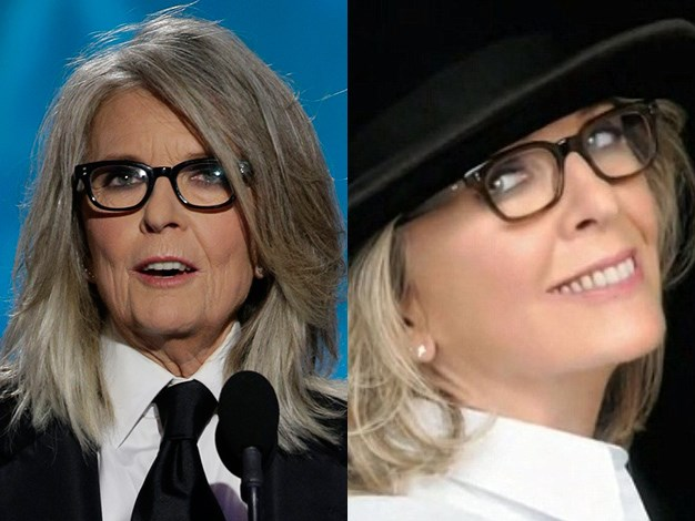Diane Keaton appears noticeably smoother in the L'Oreal Paris cosmetic commercial.