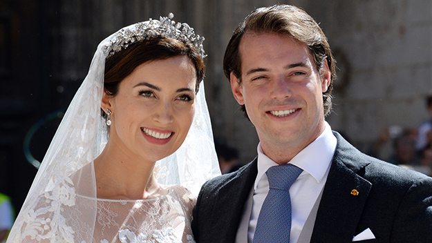 Luxembourg's Prince Felix and Princess Claire on their wedding day.