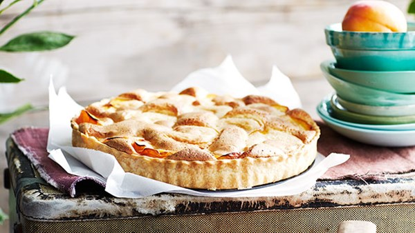 Apricot and rosewater tart