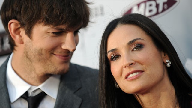 Demi Moore, 47 with husband Ashton Kutcher, 32