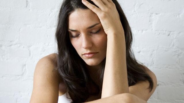 Woman suffering