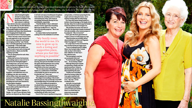 Photo of Natalie Bassingthwaighte & her Mother  Betty Bassingthwaighte