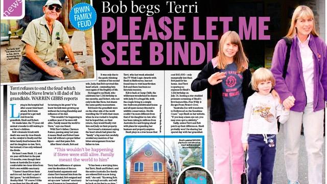 Bob begs Terri: Please let me see Bindi