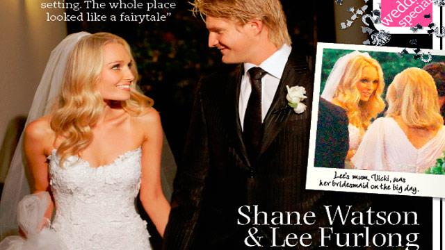 Sports presenter Lee Furlong marries cricket star Shane ...