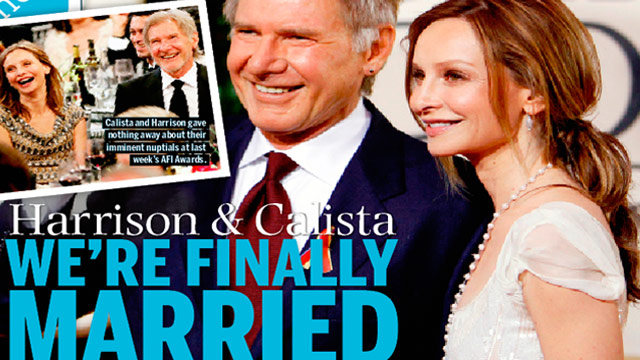 Harrison Ford Wedding Harrison Ford Divorcing
