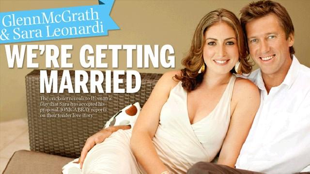 Glenn McGrath & Sara Leonardi: We're getting married