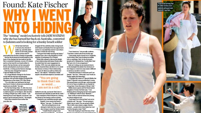 Kate Fischer: Why I went into hiding