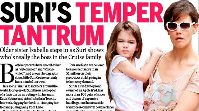 Suri Cruise's temper tantrum
