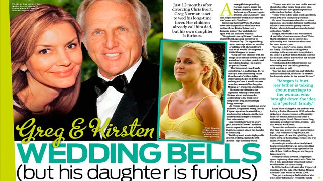 Greg Norman: I'm getting married again! But his daughter id furious