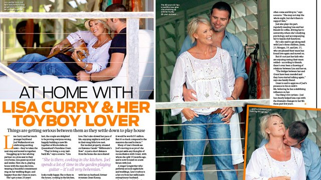 At home with Lisa Curry and her toyboy lover