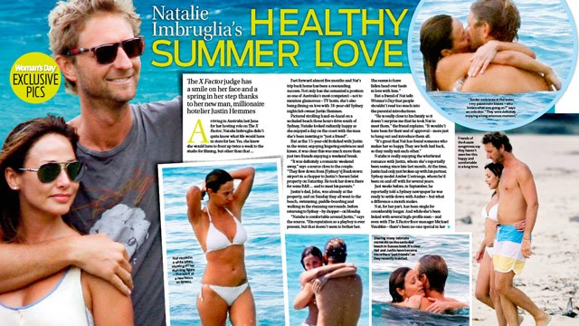 Natalie Imbruglia and Justin Hemme's healthy summer love!