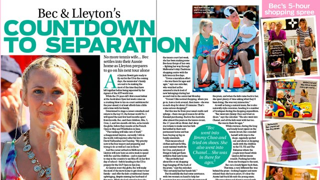 Bec and Lleyton Hewitt's countdown to seperation