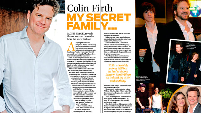 Colin Firth: My secret...