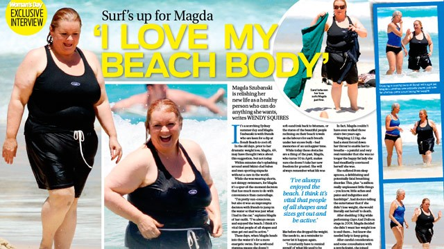 Magda Szubanski: I love my beach body!