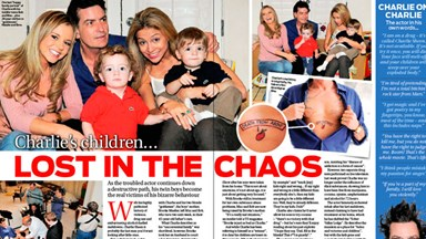 Charlie Sheen's children lost in the chaos