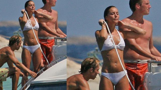 kate middleton shows off her toned body in white bikini woman s day now to love