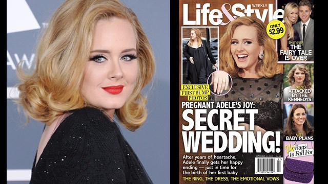 Did Adele marry in secret?