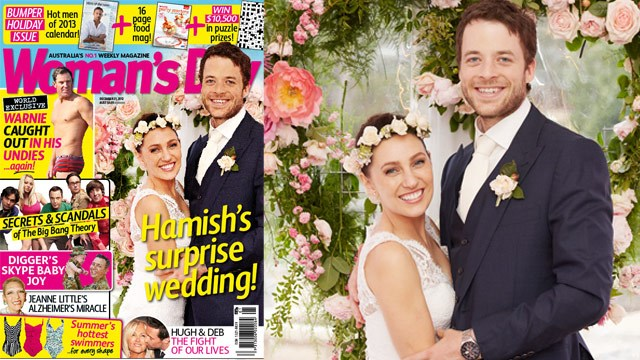 Hamish Blake's surprise wedding!