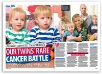 Aussie parents' heartbreak: Our twins' rare cancer battle