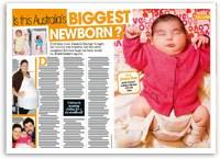 Is this Australia's biggest newborn?