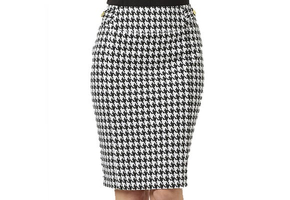 The ultimate feminine office essential for every woman's work wardrobe has to be a flattering pencil skirt. This houndstooth ponte skirt ($24.88) from [**Target**](http://shop.target.com.au/city-dressing-houndstooth-ponte-pencil-skirt) features decorative button tabs and a back split to ease movement and minimize shuffling.