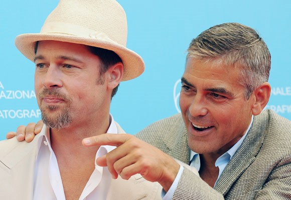 "It's hard not to love the ""bromance"" between Brad Pitt and George Clooney. Their carefree goofy relationship also works well on the big screen with the boys starring in a number of movies together including *Oceans 11* and *Burn After Reading*."