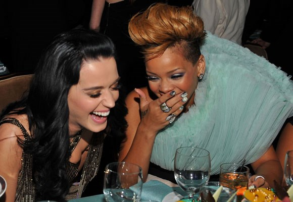 "Since this crazy pair hit the music scene they have been hard to keep apart. The two are so close that Rihanna is planning Katy's hen's night before she marries comedian Russell Brand. ""We're friends and we're both kind of on this crazy roller coaster, and...it's nice to have good girlfriends,"" Katy told the *Daily Mail*."