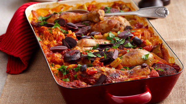 Baked Chicken Paella : Budget Family Recipes : Woman's Day