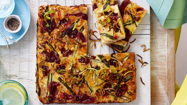 Christmas leftovers: Ham and asparagus frittata : Woman's Day NZ